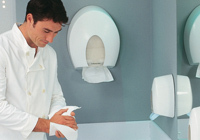 Hygienic material dispensers