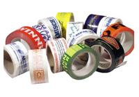 Printed adhesive tapes