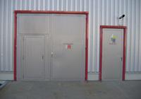 Steel fire gates