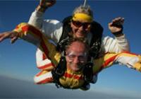 Tandem parachute jump
