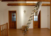 Attic folding stairs
